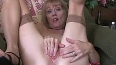 Grandma rubs her pussy Thumb