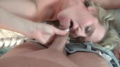 Cute MILF gets her muff fucked hard in threesome swing party Thumb