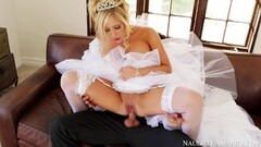 Sweet Tasha Reign hammered in her sexy wedding dress Thumb