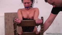 Sub slave gets spanked and toyed by master Thumb