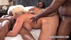 Milf Alura Jenson gangbanged by six black cocks Thumb
