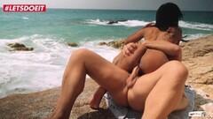 Naughty Ebony Teen Fucked Hard At The Beach Thumb