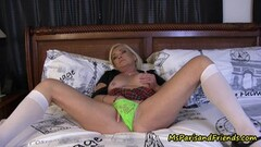 Mature blonde Ms Paris Rose in Panty Fetish Masturbation Compilation Thumb