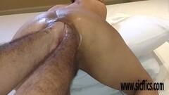 Deep Double anal fisting Latina amateur Maria Thumb