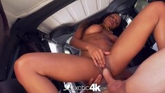 EXOTIC4K Interracial car wash turns into dripping creampie Thumb