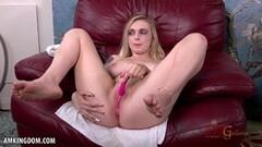 Naughty Blonde Casey Ballerini fingers her juicy pussy Thumb