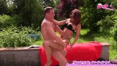 First time porn with real German disco babe outdoors Thumb