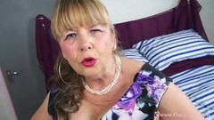 Naughty Busty Mature Lady Solo Striptease Thumb