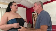 Naughty BBW Becki Butterfly gets a full body massage Thumb