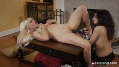 Naughty mistress made to orgasm by her sweet slave Thumb