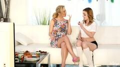 Kristen Scott seduced by naughty stepmom Cherie Deville Thumb