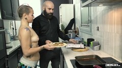 CHICAS LOCA - Steak & Blowjob Day kitchen celebration Thumb