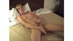 Justin beats off his dick Thumb