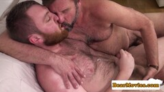 Redbear assfingered while jerking Thumb