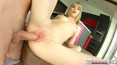 AllInternal Shy newcomer enjoys her messy creampie Thumb