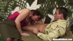 Senior Army Officer Reprimands A Soldier by sucking his cock Thumb