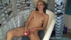 Seductive babe dildo fucks her warm pussy Thumb