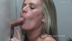 Naughty Swinger Wives Sucking and Fucking Hard Gloryhole Cock Thumb