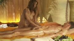 Oily Sensual Blonde handjob Massage Fantasy Thumb