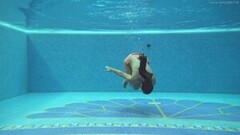 Beautiful Sazan Cheharda on and underwater naked swimming Thumb