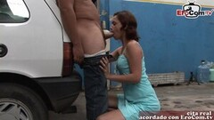 Frisky Spanish Amateur Latina Milf Fuck Amateur in Garage Thumb