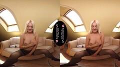 Hot Solo Blonde Model, Lena Love Is Teasing a Bit Thumb