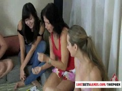 Four girls playing strip dice Thumb
