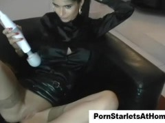 Classy babe masturbating with virbrator Thumb