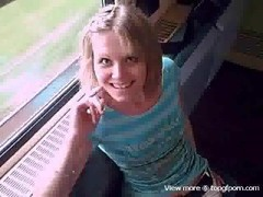 Blowjob On Public Train Thumb