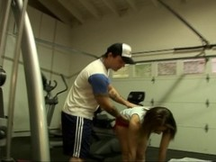 Sex with fit babe in the gym Thumb