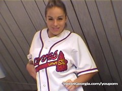 Sweet Georgia Braves Jersey Full Nude Striptease Thumb