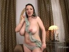 Joanna Bliss Takes Off Her Top And Flashes Her Big Thumb
