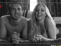 Big tit MILF pornstar make her husbands fantasy come true. Thumb