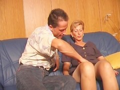 German MILF gets candles in her holes Thumb