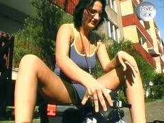 Rollerblade babe shoots amateur porn - Sascha Production Thumb