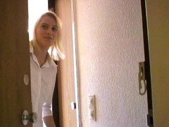 Shy blonde girl gives head - Sascha Production Thumb