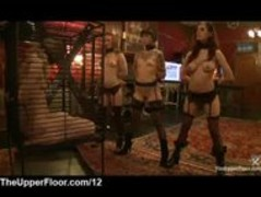 Gagged blonde punished by master in the upper floor Thumb
