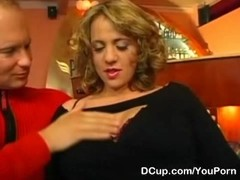 Busty Annabelle fucked at her resto Thumb