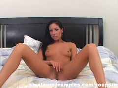 Nadia Pretty Latina Fucked in Bed Creampied Thumb
