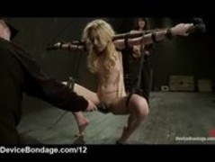 Strapped suspended blonde flogged and vibed Thumb