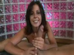 handjob with dirty talk from hot brunette Thumb