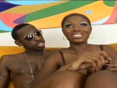 Caribbean ebony beauty gets her freak on - Black Thunder Digital Thumb