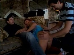 Beautiful redhead with two lucky men - Future Works Thumb