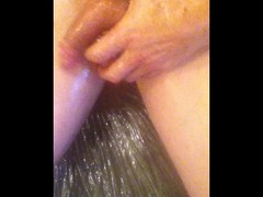masturbating with oil and toy - foreplay Thumb