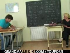 Old teacher takes two tocks Thumb