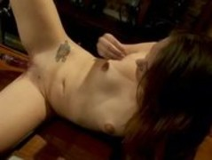 Redhead masturbating with electric gadgets in a bar screaming of Thumb