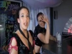 Groupsex with 2 brunettes in a French Club Thumb