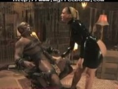 Dominatrix Drenches Slave With Her Squirting Pussy bdsm bondage slave femdom domination Thumb