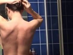 tight naked darkhair in bathroom Thumb