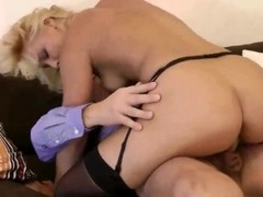 Blonde babe gets old guy fucked and cant get enough Thumb